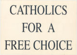 Another Catholic For Choice - Catholics For A Free Choice