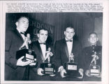 Ara Parseghian, Coach of the Year, with Awarded Players, 1965