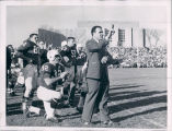 Ara Parseghian Instructing Players from the Sideline