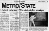 Oxford to honor 1964 civil rights martyrsin The Cincinnati Enquirer, June 20, 1994