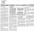 Mississippi Summer vets to reunite in Oxfordin The Cincinnati Inquirer, March 31, 1989