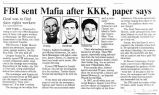 FBI sent Mafia after KKK, paper saysin The Cincinnati Enquirer, June 23, 1994