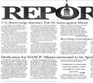 Dedication for NAACP/Miami Memorial to be April…in The Miami Report, July 1, 2000