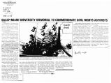 NAACP/Miami University memorial to commemorate civil rights activistsin The Columbus Post, March...