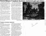 NAACP/Miami Freedom Summer memorial gets go-aheadfrom Miami University Communications, September...