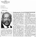 Dedication for NAACP/Miami memorialin The Call and Post, March 30, 2000