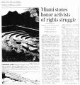 Miami stones honor activists of rights strugglein The Dayton Daily News, April 7, 2000