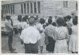 Photograph, group of Freedom Summer volunteers and Mississippi residents standing in group