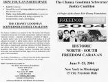 Flier for the Freedom Summer 2004 Historic North-South Freedom Caravan, June 9-25, 2004