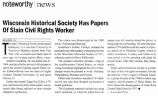 Wisconsin Historical Society has Papers of Slain Civil Rights Workerfrom the Associated Press, n.d.