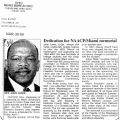 Article, ' Dedication for NAACP? Miami memorial' in Call & Post, March 3, 2000