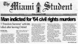 Man indicted for 64 civil rights murdersin The Miami Student, January 14, 2005