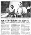 Service honors trio of martyrs: college, colleagues remember murdered civil rights workersin The...