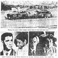 Photographs of civil rights workersburned station wagon, Andrew Goodman, Mickey Schwerner, and...