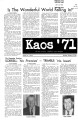 1971-10-14 - KAOS Student Newspaper -  October 14, 1971