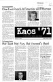 1971-10-29 - KAOS Student Newspaper -  October 29, 1971