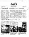 1982-09-22 - KAOS Student Newspaper -  September 22, 1982