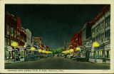 Sandusky Street Looking North, at Night, Delaware, Ohio