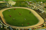 Air View of Race Track, Delaware County Fair