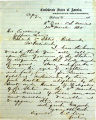 Correspondence from A.C. Jackson to Jefferson Davis, dated July 29, 1862