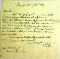 Correspondence from Robert E. Lee to B.B. Euston, dated December 7, 1869
